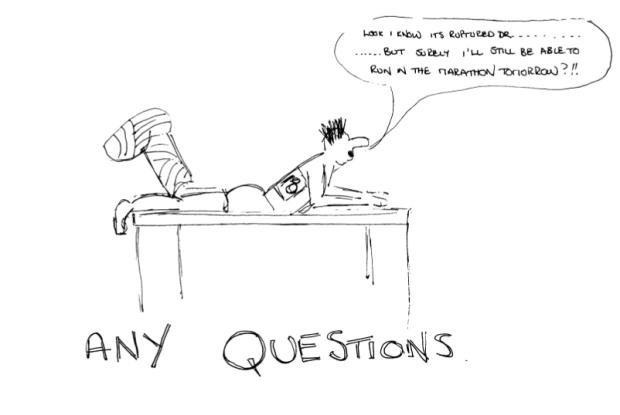 Marathon cartoon