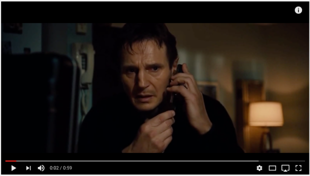 "LIam Neeson speech in ""Taken"""